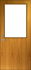 HG-B Glass Lite Door Elevation