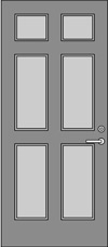 SP-6 Solid Panel Door Elevation